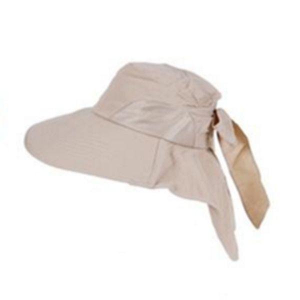 51d285a97 MYPF-New Fashion Women Sun Hat Girl Foldable Wide Brim Self-tie Bow Summer  Beach Floppy Cap Headwear Cap Khaki