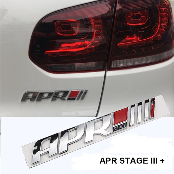 top popular Abs APR Stage III+ Emblem Tail Sticker Badge For Audi A4 Q5 Pors Volkswagen golf 6 7 GTI Scirocco R20 Car Styling 2021
