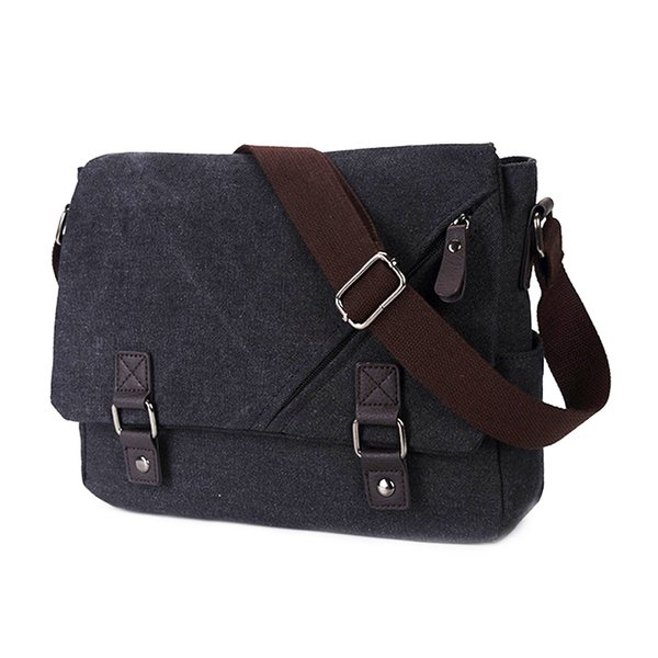 ASDS Canvas Messenger Shoulder Bag Laptop Computer Bag Satchel Bookbag School Working for Men