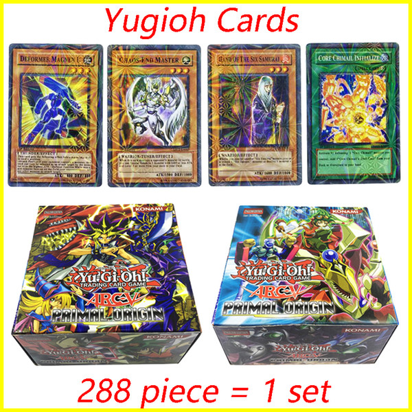288PCS/Set yugioh cards board Games Collection Card Yugioh Cards Figure Toy Cards English Version for kids toys