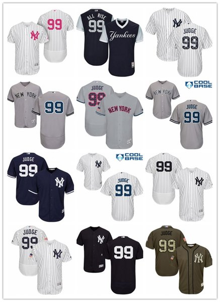 the latest c4af6 95b6c 2018 Mens Womens Youth New York Yankees 99 Aaron Judge All Rise Flexbase  Authentic Salute To Service Baseball Jerseys From Aixi01, $18.1 | Dhgate.Com