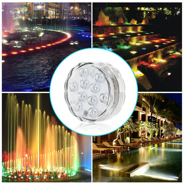 Waterproof RGB Colors Remote Control Wireless Vase Light for Party Wedding Pool Fountain Garden 4 PCS Submersible LED Lights High Quality