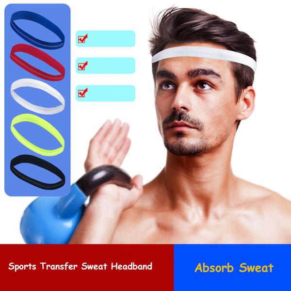 Dropshipping all'ingrosso Sweatband della fascia assorbente per le donne degli uomini Testa capa del sudore della testa dei capelli di Yoga 2018 NUOVO funzionamento di forma fisica di sport