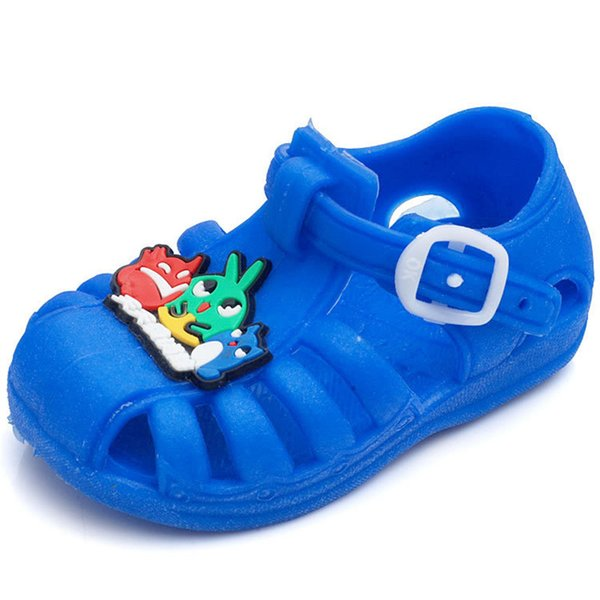 2018 New soft underwear children's plastic sandals cute fashion boys and girls 1-3 years old to learn sandals kids free shipping