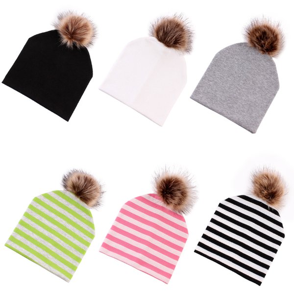 New For Toddler Kids Boys Cute Soft Stripe Infant Girl Baby Hat Cap Cotton