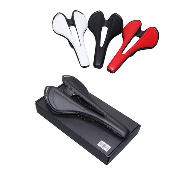 full PU Leather carbon fiber road mountain bike saddle seat cushion Carbon saddle Bicycle saddle bicycle accessories