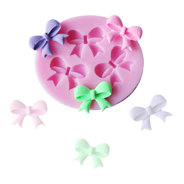 Silicone Cake Mold Bowknots Flower 3D Fondant Mold Cake Decorating Tool Chocolate Soap Stencils Kitchen Baking Accessories