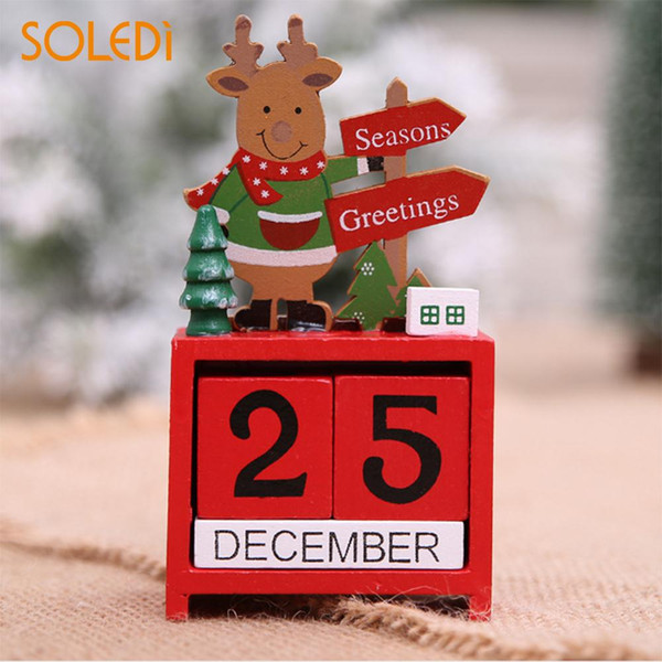 Unique Ornements De Noël Calendrier De Bureau Calendrier Créer En Bois Jour De Noël Hiver Décor À La Maison Bureau Table