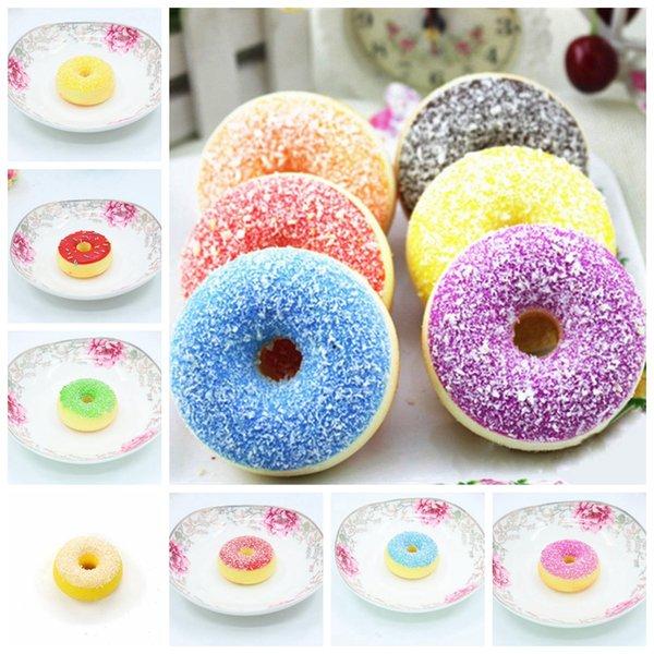 Mini Donut Schokolade süße Rolle langsam steigende Spielzeug Simulation Lebensmittel Squishy Modell Brot Donut Hochzeit photograp Requisiten Neuheit Artikel GGA836