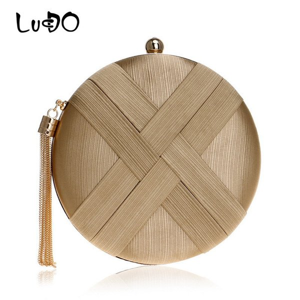 LUCDO Fashion Women Evening Clutch Bag Female Tassel Metal Small Day Clutches Lady Purses And Handbags Chain Shoulder Phone Bags