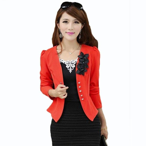 Blazers et vestes pour femmes Plus Size 5XL Blazers Femme Blazers Feminino Blaser Womens Jaune / Blanc / Noir / Rose Blazer Femme