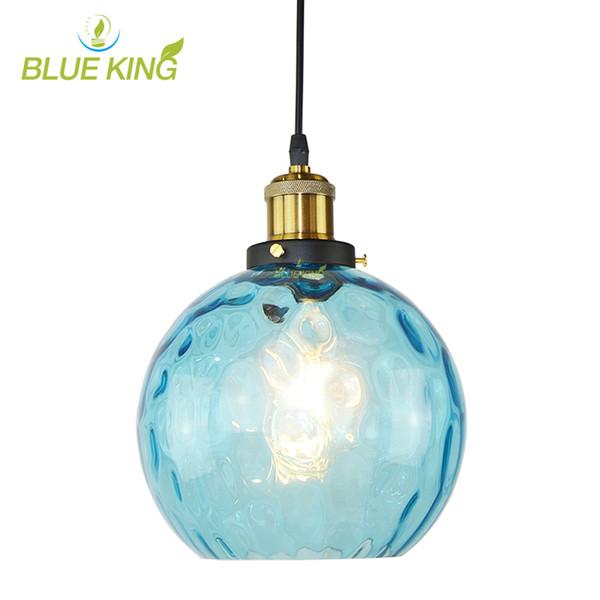 Luz Moderna Compre Cristal Lámpara Luces De De Cristal Mediterránea Redonda De De Bola De De Para Azul Colgante Techo EscaparateAccesorio Agua UVSMpz