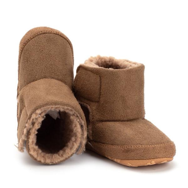 0-18 M Neonato Neonato Scarpe Bambino Ragazza Ragazza Soft Sole Causale Presepe Scarpe Calde Stivali Prewalker