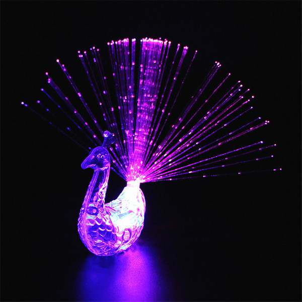 Led Fingers Toys Novelty Items Party Favors Fashion Cheaper Peacocks Flashing Ring For Kids Promotional Event Gifts Lighted Childrens Toy