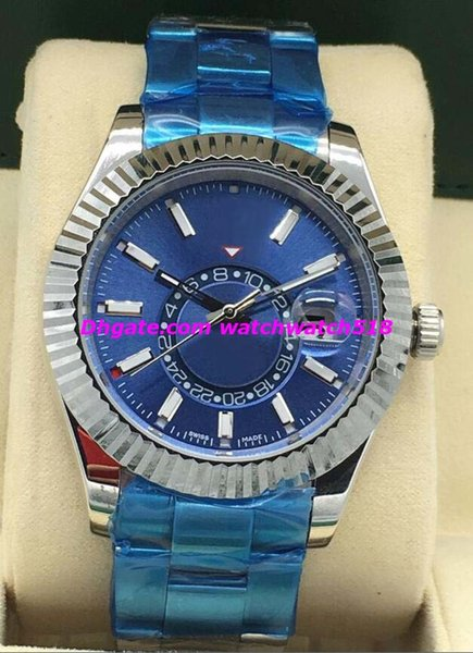 2019 New Luxury Watches 2 Style 326934 Steel & White Gold Black Dial Fluted 41mm NEW Automatic Fashion Brand Men's Watch Wristwatch