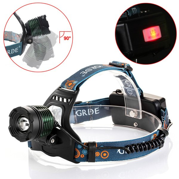 Ultra Bright Mine Light T6 LED 10W Cycling Bicycle Headlights Light Anti-Reverse Bike Front Head Light Lamp For Camping Hunting Hiking