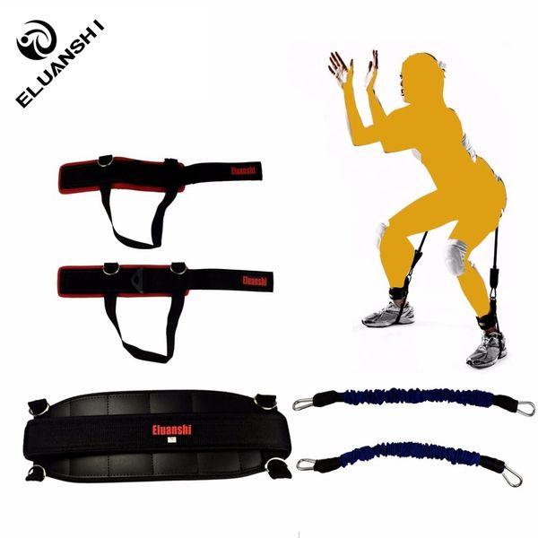 Strength Agility Training Strap Fitness Bounce Trainer Rope Resistance bands rubber Basketball Tennis Jump Leg Men Women