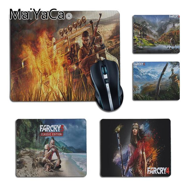 MaiYaCa New Design far cry Customized laptop Gaming small mouse pad Gaming Player desk laptop Rubber Mouse Mat Desk Mousepads