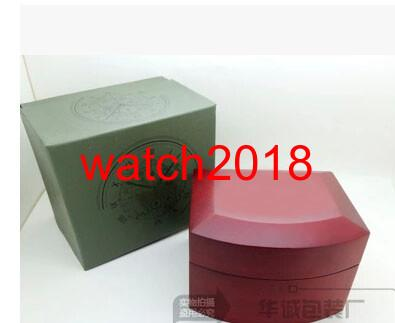 2018 Wholesale New Outer Red Wooden Box Watch Boxes Papers Certification Papers Card Manual Translation Wallet