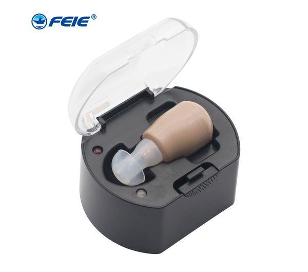 Глухой USB Слуховой аппарат Аккумуляторная Ушная Мини Слуховое Оборудование Аппарат для Пожилых Гарнитура Бесплатная Доставка S-219