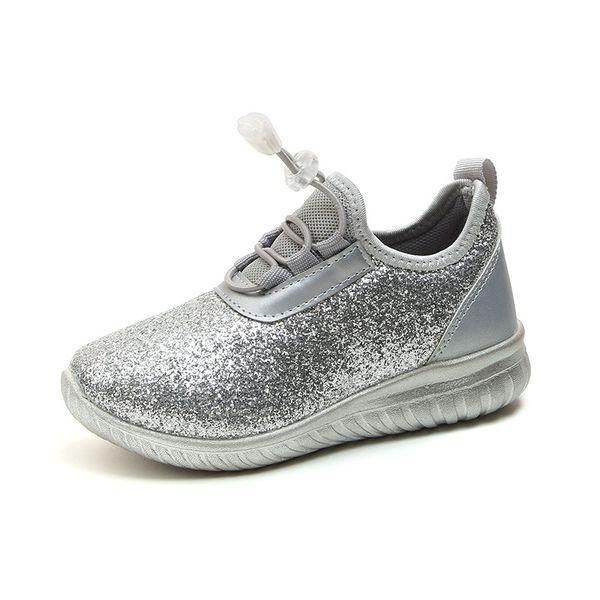Glänzende Schuhe Rosa Großhandel Jugendliche Laufschuhe Von Kinderschuhe Prinzessin Turnschuhe Mädchen Für Silber Mode Kinder 2ED9IeWHYb