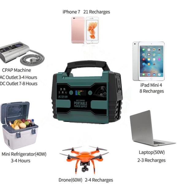 Moda Küçük AC DC USB Çıkışı 42000 mAh 155Wh 220 V 110 V Taşınabilir Jeneratör Güç Kaynağı Modifiye Sinüs Çıkışı Rechargeble Pil Paketi