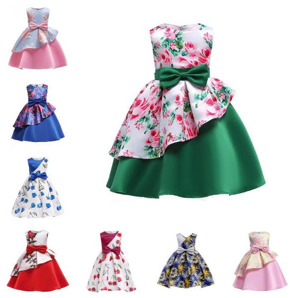 Compre Vestido De Las Muchachas De Flor 2018 Verano Elegante Niña Princesa Vestido De Niños Vestido De Novia Navidad Niños Vestidos De Fiesta Para