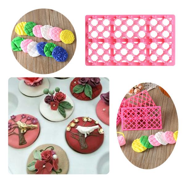 Neue Pastry Tools Quilten Schablone Textur Prägeform Fondant Kuchen Dekorieren Kuchenform Fondant Ausstecher Backwerkzeug