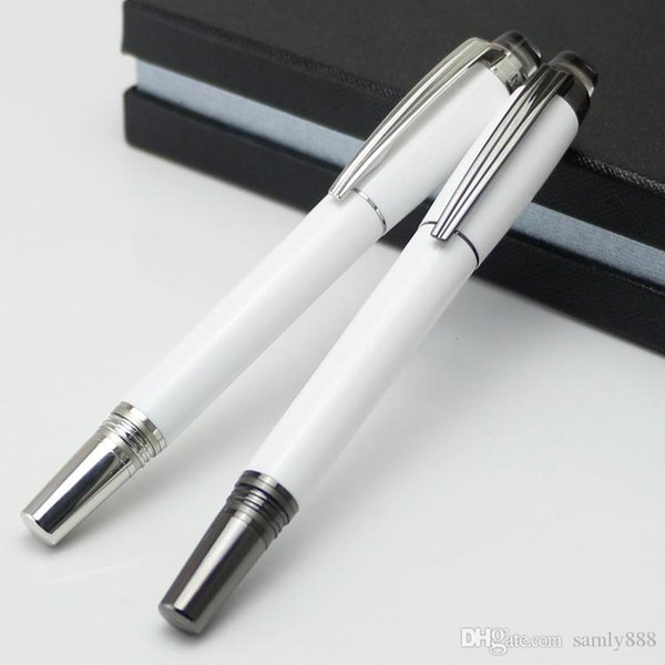 Promotion Metal White PVD-plated Rollerball pen/Ballpoint pen with crystal school office luxury hot sale brand pens for writing