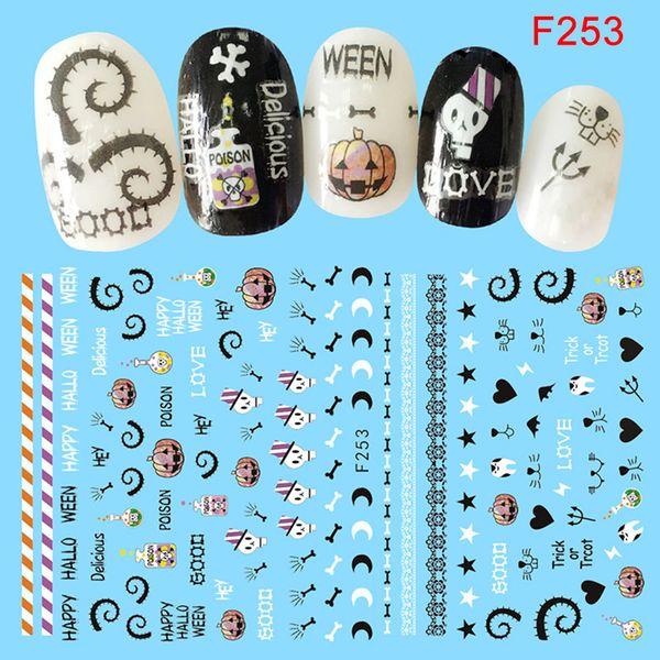 Nail Art Sticker Adhésif Femmes DIY Manucure Halloween Conseils Décoration Stickers SSwell
