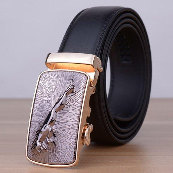 New Casual Jaguar Top Designers Luxury Cowhide enuine Leather Belts for Mens Wedding Male Cowskin Strap Ceinture Homme