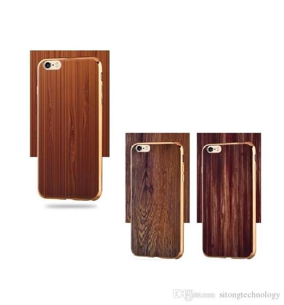 Style bois couverture pour iphone 6 plus cas bambou naturel en bois téléphone cas pour iphone 6 6 s plus 6 plus Fundas-in sous-vêtements