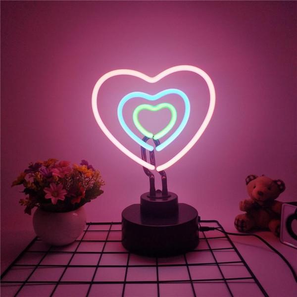LED Neonlicht Nachtlicht Schreibtischlampe Fotografie Schlafzimmer Lampe Dekor