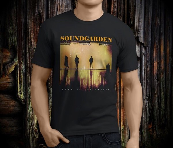 Ordina Custom T Shirts Girocollo Uomo Short Sleeve Office Soundgarden Down On The Upside Tee