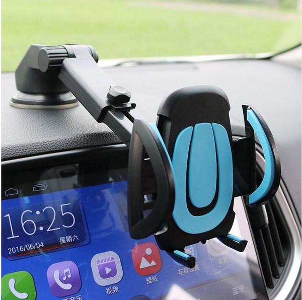 Araç Telefonu Tutucu Smartphone Aksesuarları Montaj Standı Soporte Celular Para Otomatik Pano Vantuz Cam Cam