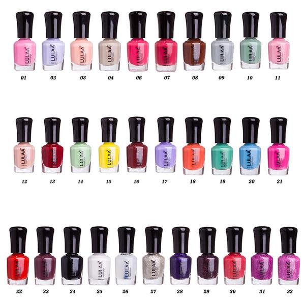 Smalto a base di acqua 6ml Smalto per unghie ad asciugatura rapida ed ecologico Offerta speciale Smalto per unghie Gel Sollevamento a 32 colori
