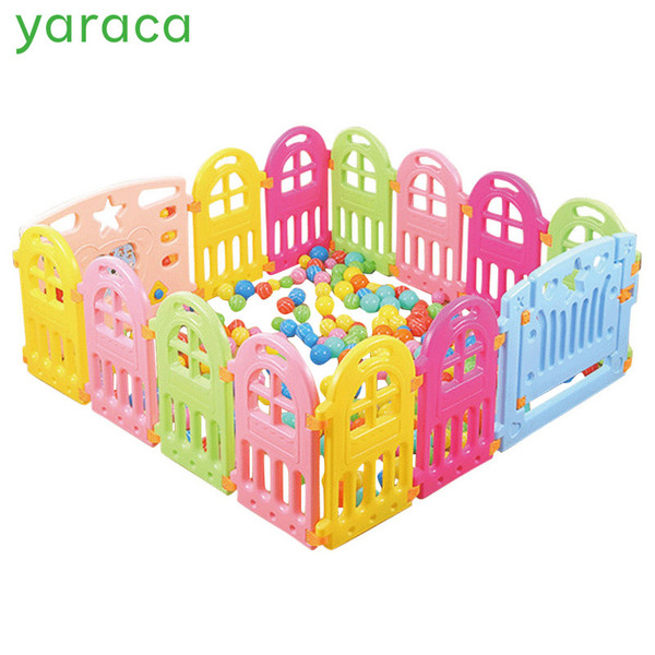 Baby Playpen Plastic Fencing For Children Indoor Game Play Yard Safety Barriers For Children Protector Kids Pool Of Balls