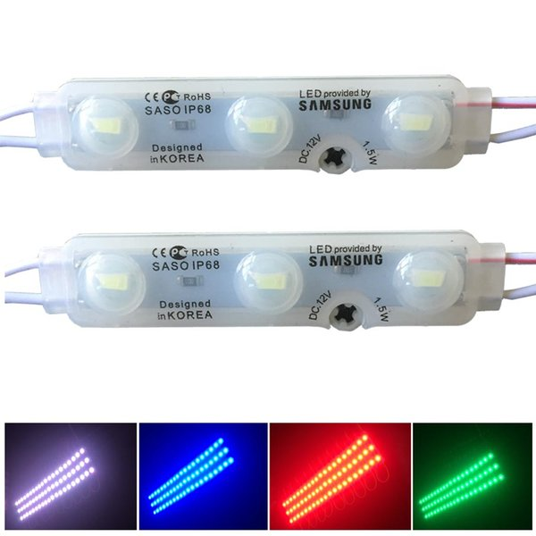 top popular SASO SMD5630 LED Module Lights injection Led Modules with lens Led Sign Backlights For Channel Letters Advertising Light shop banner 2019