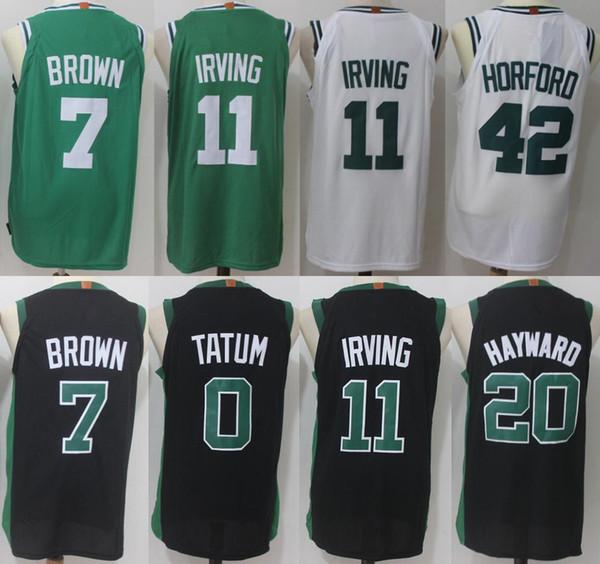 6b747293b Boston 11 Kyrie Irving Celtics 7 Jaylen Brown Jersey 0 Jayson Tatum 33  Larry Bird 20 Gordon Hayward 42 Al Horford Basketball Jerseys