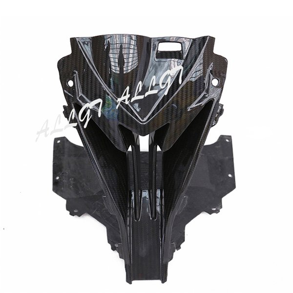 REAL Carbon Fiber Motorcycle Part for 2015 2016 2017 BMW S1000RR Upper Center Nose Air Intake Ram Fairing Black