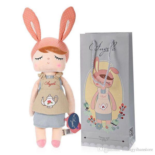 Adorável Metoo Boneca Crianças Adultos Recheado de Pelúcia Boneca de Brinquedo Angela Meninas Animal Design Bonecas de Aniversário Xmas Presentes Doces Bonito Boneca
