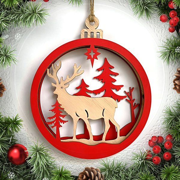 Light Bulb Christmas Ornaments.2018 Snowman Deer Santa Claus Letter Light Bulb Round Decorated Pendant Wood Wedding Christmas Tree Hanging Ornament Home Decorations Christmas Home