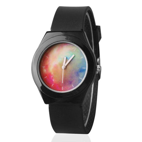 Silicone Soft Band Lazer Personalizado Relógios De Quartzo Para Homens E Mulheres Estudantes Casais Relógios 2018 Preto Branco Cor