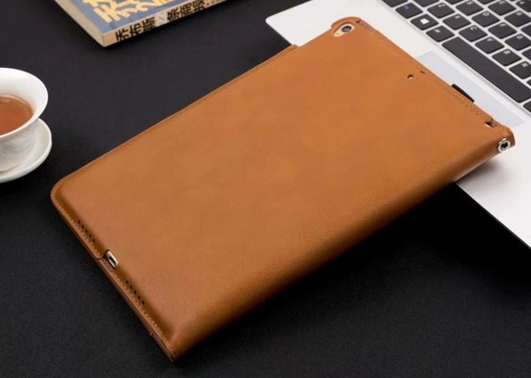 Estuche de cuero de lujo para Apple iPad mini 4 Funda para tableta Despertador / Sueño automático para ipad A1538 A1550 Funda para tableta inteligente + Stylus Pen + Film.