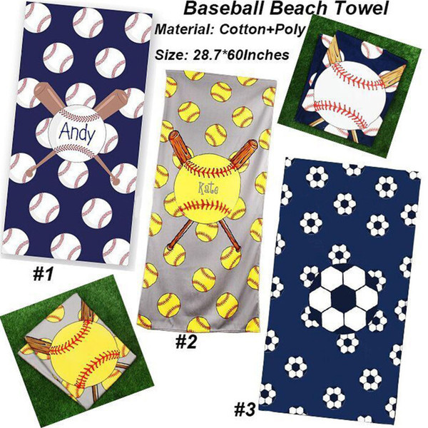 2018 World Cup Sports Bath Towels Football Soccer Beach Towel Soft Picnic Mat Beach Blanket Yoga Mat Table Cloth Baseball Football Printing