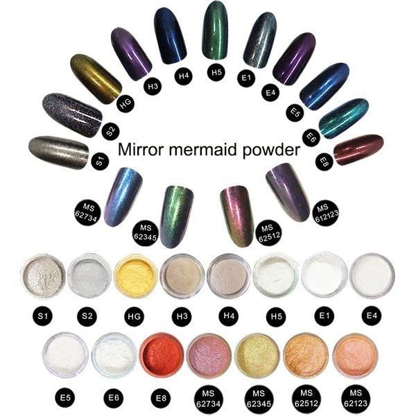 best selling NEWAIR Shiny Aurora Mirror Nail Powder Dust Metallic Colorful Glitter Magic DIY Nails Art and Salon