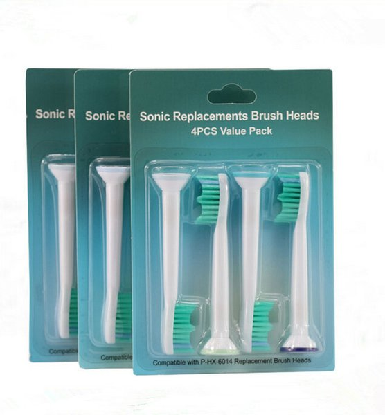 2018 Hot Cheap Compatible HX6014 HX6013 HX6011 Best Brush Electric Toothbrush Replacement Heads for Philips Sonicare 4pcs/pack In Stock