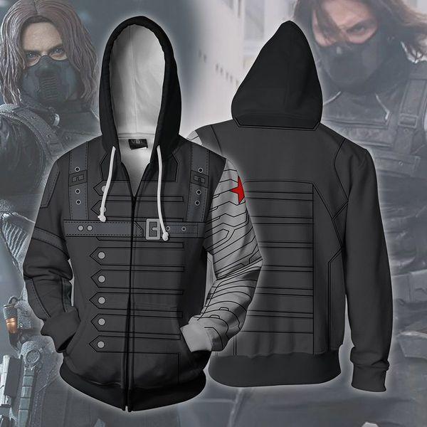 3D Printed sanitary men's zipper blazer with hoodie cosplay animation