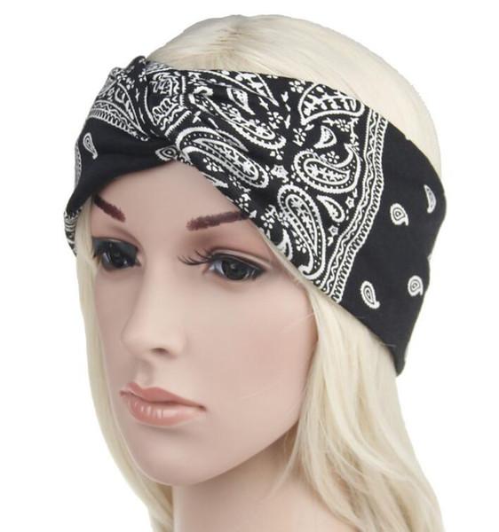 Paisley Design elegante croce sciarpa testa fascia per le donne Moda Bohemia fasce per capelli ragazza retro stampa turbante Headwraps regali