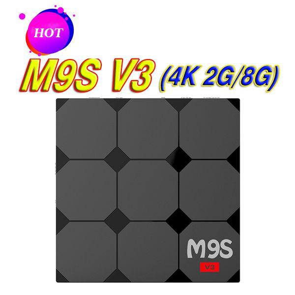 2018 M9S V3 Android TV Boxes Rockchip RK3229 2GB 8GB Quad Core 4K wireless WIFI HDMI media player TV OTT set top box Media player